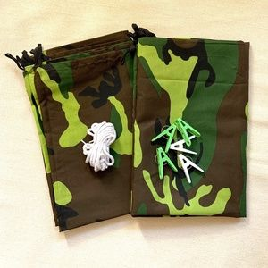 Indoor Fort Kit  - Two Camouflage Canvas Tarps